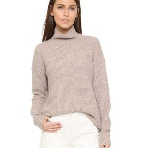 Madewell Wafflestitch Medium khaki wool sweater